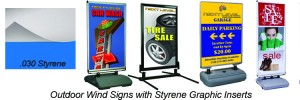 Outdoor Wind Signs with Custom Printed Graphics